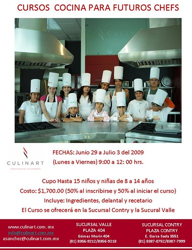 Clases de cocina para ni os curiosidades gastron micas for Cursos de cocina para ninos en madrid