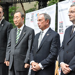 Secretary-General Ban Ki-moon, Mayor Michael Bloomberg, Steve Howard, and Paul Dickinson