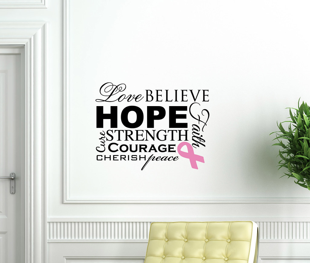 """Overcome"" Cancer Awareness Vinyl Wall Decal"