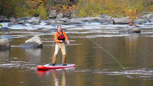 Stand up paddleboard fly fishing from a stride sup that for Best stand up fishing kayak