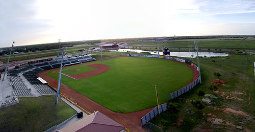 sunset field texas baseball kap kiteaerialphotography