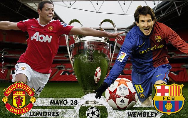 Chelsea Vs Manchester United Vs Fc Barcelona: FC Barcelona Vs Manchester United Wembley Final UCL
