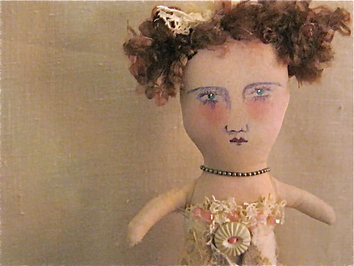 Lacey mermaid , art doll