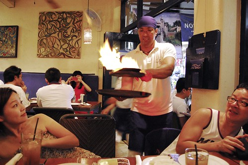 Saganaki - Flaming Cheese