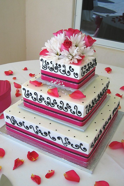 pink and black wedding cakes pink and black wedding cake flickr photo 18534
