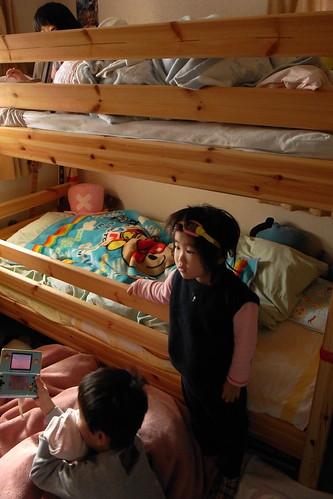 今朝の子供部屋