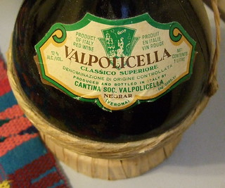 ITALIAN RED WINE ---VALPOLICELLA 1974 VINTAGE Label closeup Pic 1