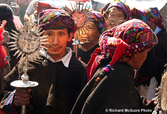 Cofradía procession, Chichicastenango, Guatemala