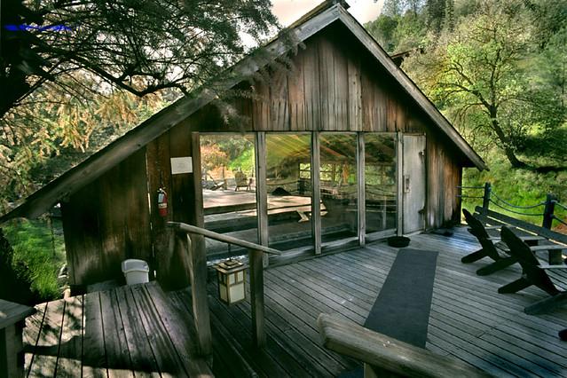 Entrance to the Fluminarium Wilbur's renowned Hot Springs
