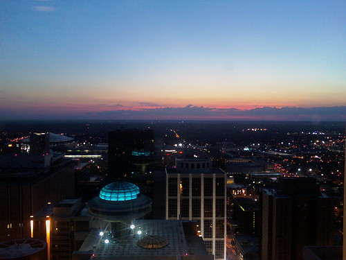 Sunset over the Hyatt - Atlanta