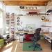 Office of floating shelves by Jeremy Levine Design