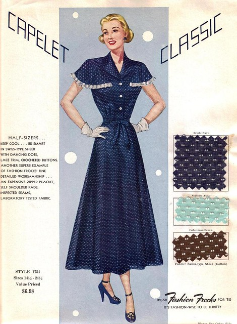 "Fashion Frocks ""Capelet Classic"" 1950"
