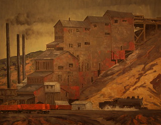 At Madrid Coal Mine, New Mexico by Carl Redin