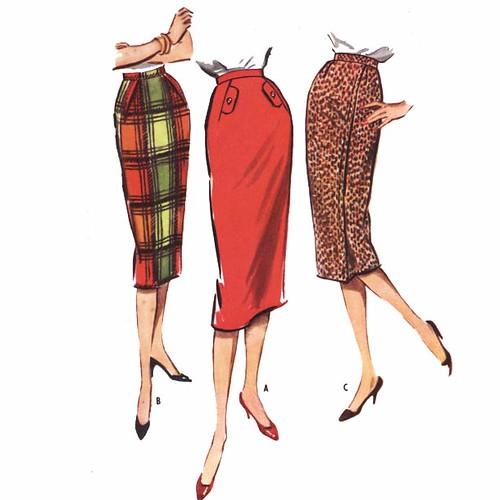 Vintage 1950's skirt sewing pattern