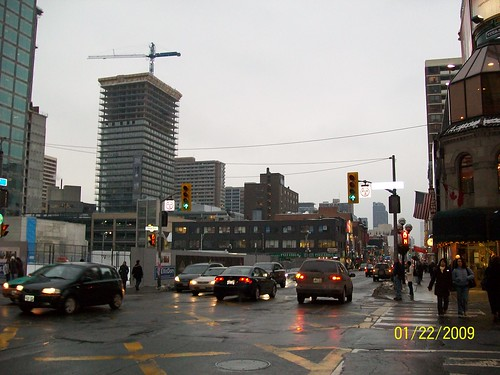 Looking south at Yonge and Bloor, January 2009