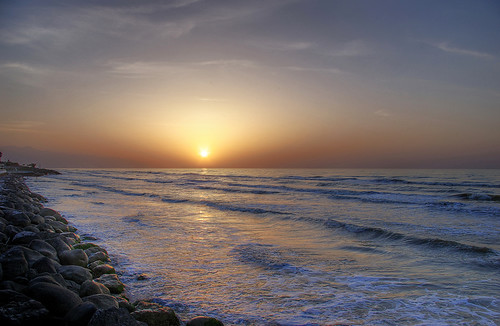HDR sunset scenery, Caspian sea, north of Iran II   (Explored)