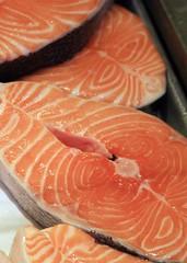 orange, salmon, fish, lox, food,