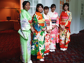 Kimono wearing at Legends, Fort Canning, Singapore