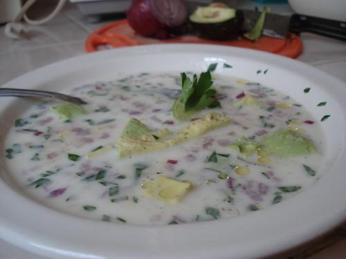 Gazpacho de avocado