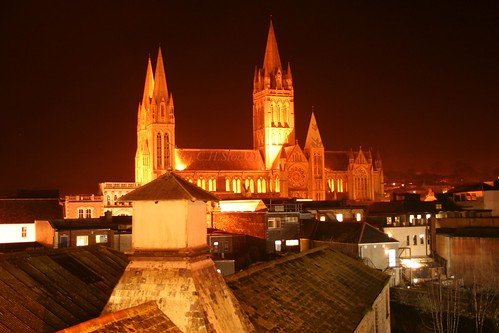 Truro Cathedral at night by Stocker Images