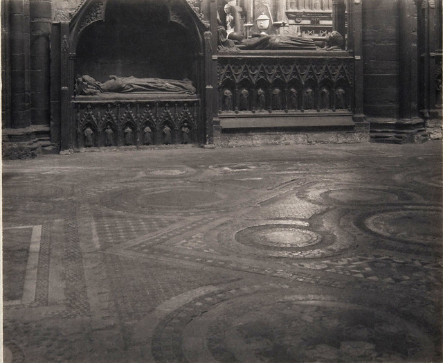 Westminster Abbey, 12th-Century Mosaic Floor at the Sanctuary, by Frederick H. Evans 1911