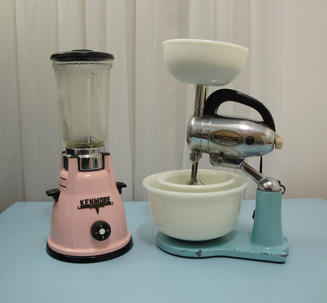 50's Kenmore blender and stand mixer