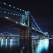 brooklyn bridge at night, nyc by andrew c mace