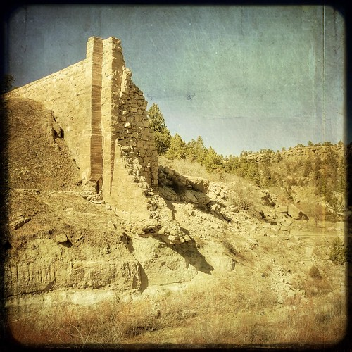 texture forest vintage square colorado flood dam pines faux layer castlewood castlewoodcanyon ttv sunwashed kartpostal runins