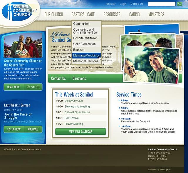 Sanibel Community Church - Home Page w/Sub Navigation