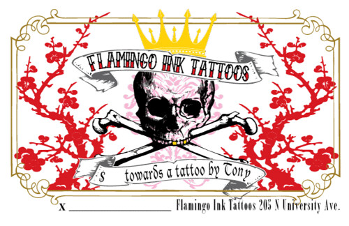 tattoo gift certificate template - flamingo ink tattoos gift certificate 2008 flickr