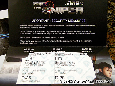The Sniper (神鎗手) Singapore Gala Premiere - Alvinology