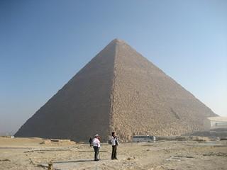 Image of Pyramid of Khufu near Muḩāfaz̧at al Jīzah. pyramid egypt 2009 giza khufu