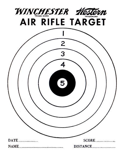 Agile image inside printable air rifle targets