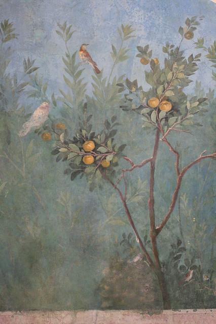 Roman Fresco Detail With Birds And Fruit Villa Of Livia