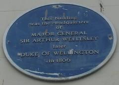 Photo of Arthur Wellesley blue plaque