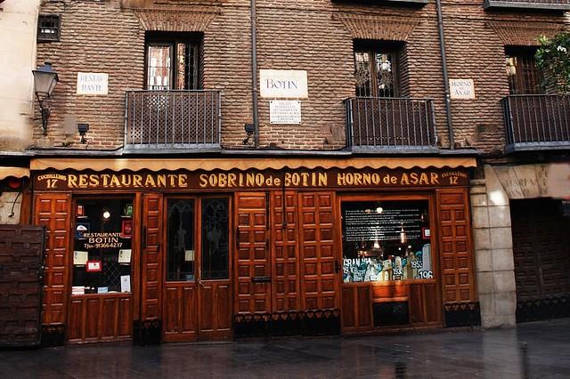 Restaurante sobrino de bot n calle cuchilleros madrid for Casa botin madrid