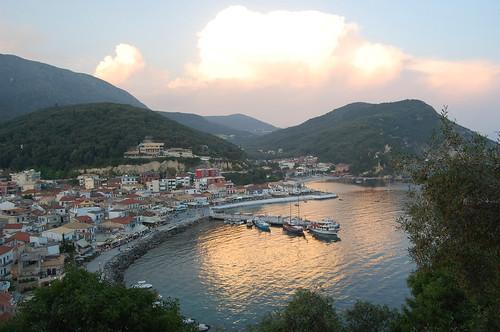 sunset sea mediterranean harbour greece ionian parga epirus ελλάδα πάργα