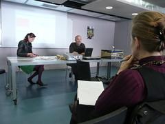 """Laurence Allard, Olivier Auber et Marie-Anne Dujarier au s�minaire """"Politiques et technologies de l'amateur"""""""
