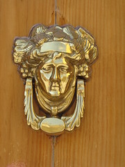 carving, door knocker, brass,