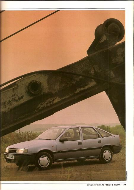 Vauxhall Cavalier 1.6L Mk 3 Road Test 1988 2