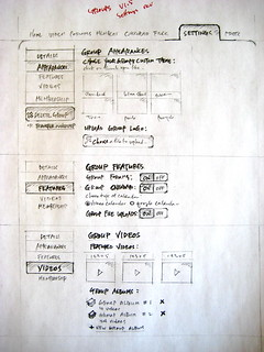 sketch: vimeo groups simplified settings page ideas