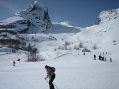 skiing at Gourette resort