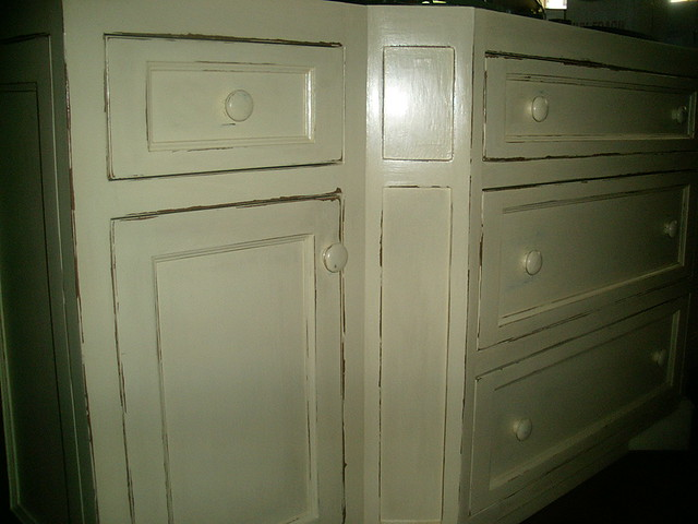 Distressed kitchen cabinets flickr photo sharing for Distressed kitchen cabinets