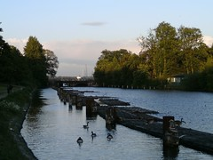 Kiel-Holtenau, vor den Schleusen