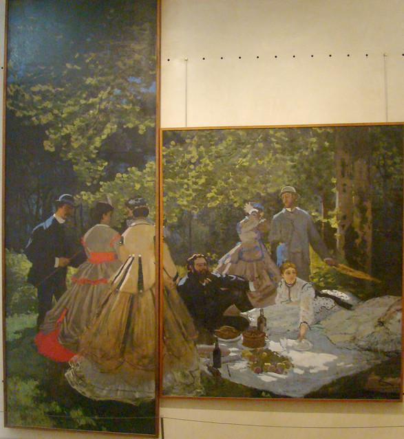 Monet le dejeuner sur l 39 herbe explore gauis caecilius for Vaisselle dejeuner sur l herbe