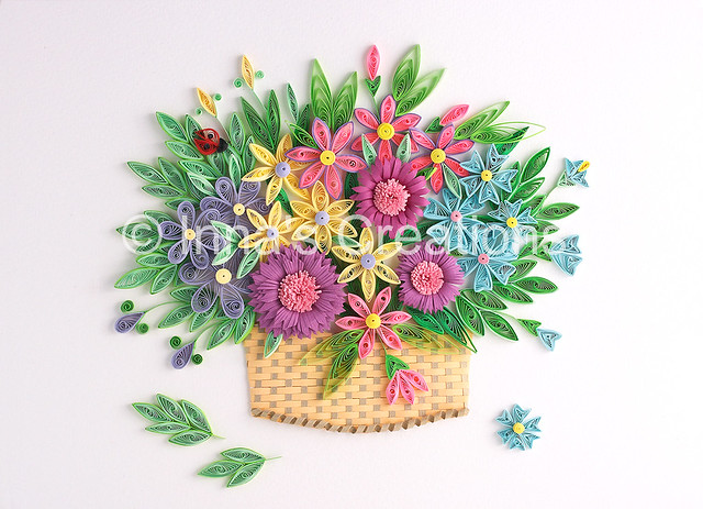 How To Make A Quilling Flower Basket : Cbd ac da z g zz