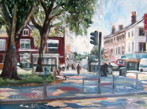 Somewhere near Turnpike station London Painting.