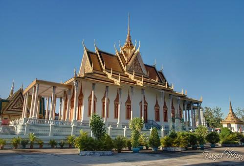 blue vacation panorama architecture digital silver landscape pagoda nikon cambodia khmer buddha royal buddhism palace temples dri phnom penh blending d80