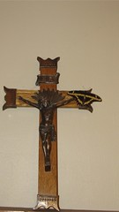 carving, religious item, symbol, wood, sculpture, crucifix, cross,