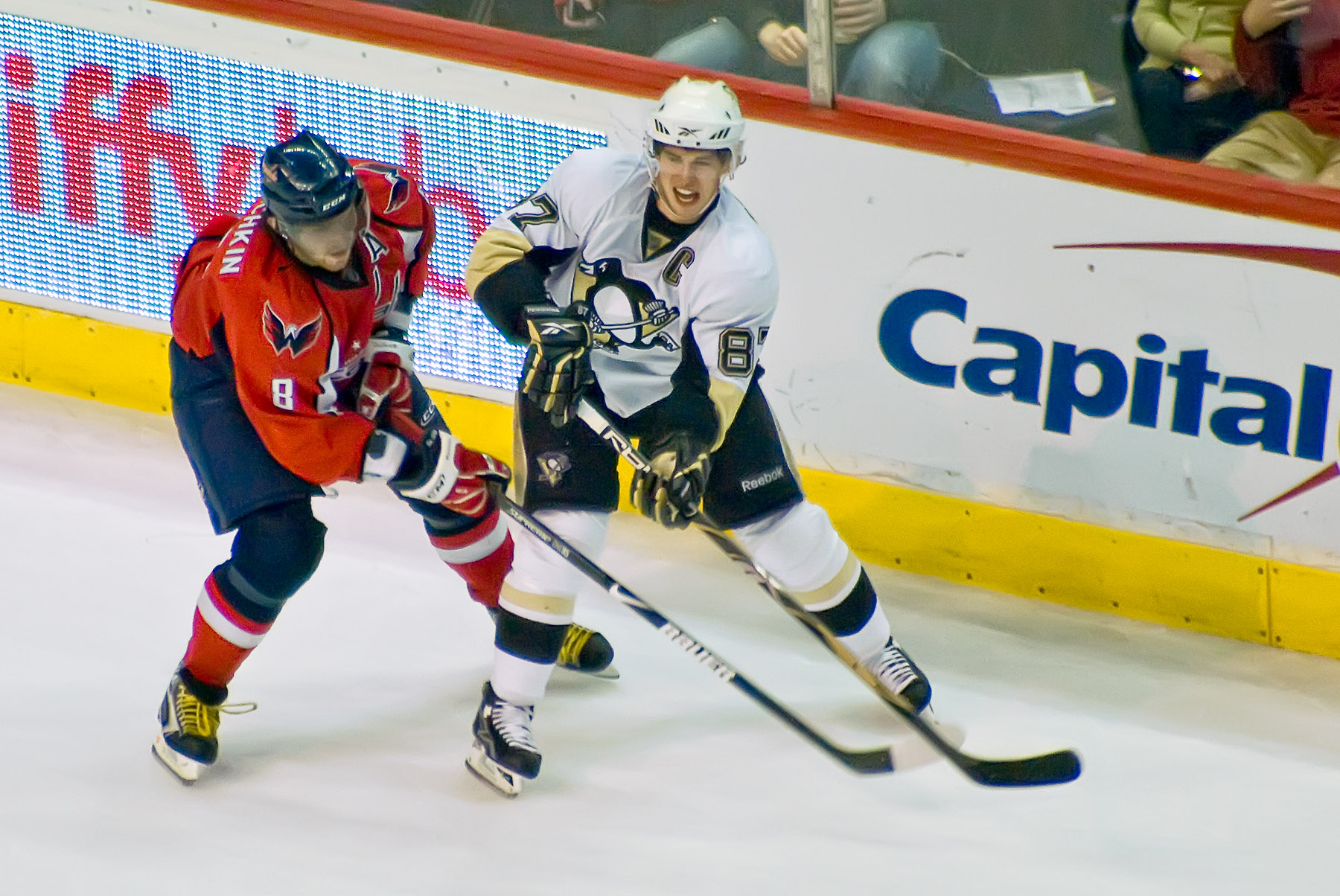 Alexander Ovechkin and Sidney Crosby remain huge rivals. (Flickr)